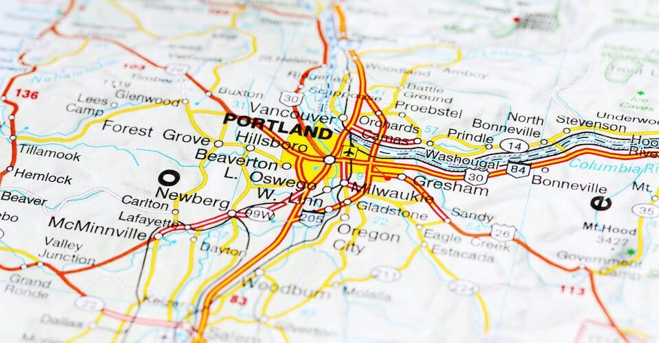 Happy Leaf Portland Map